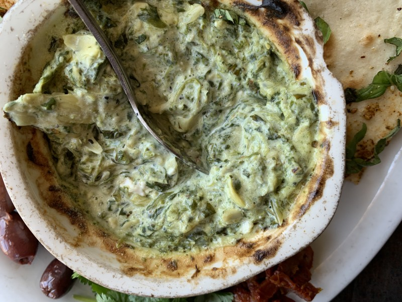 Bellagreen Winter Menu- Spinach and Artichoke Dip