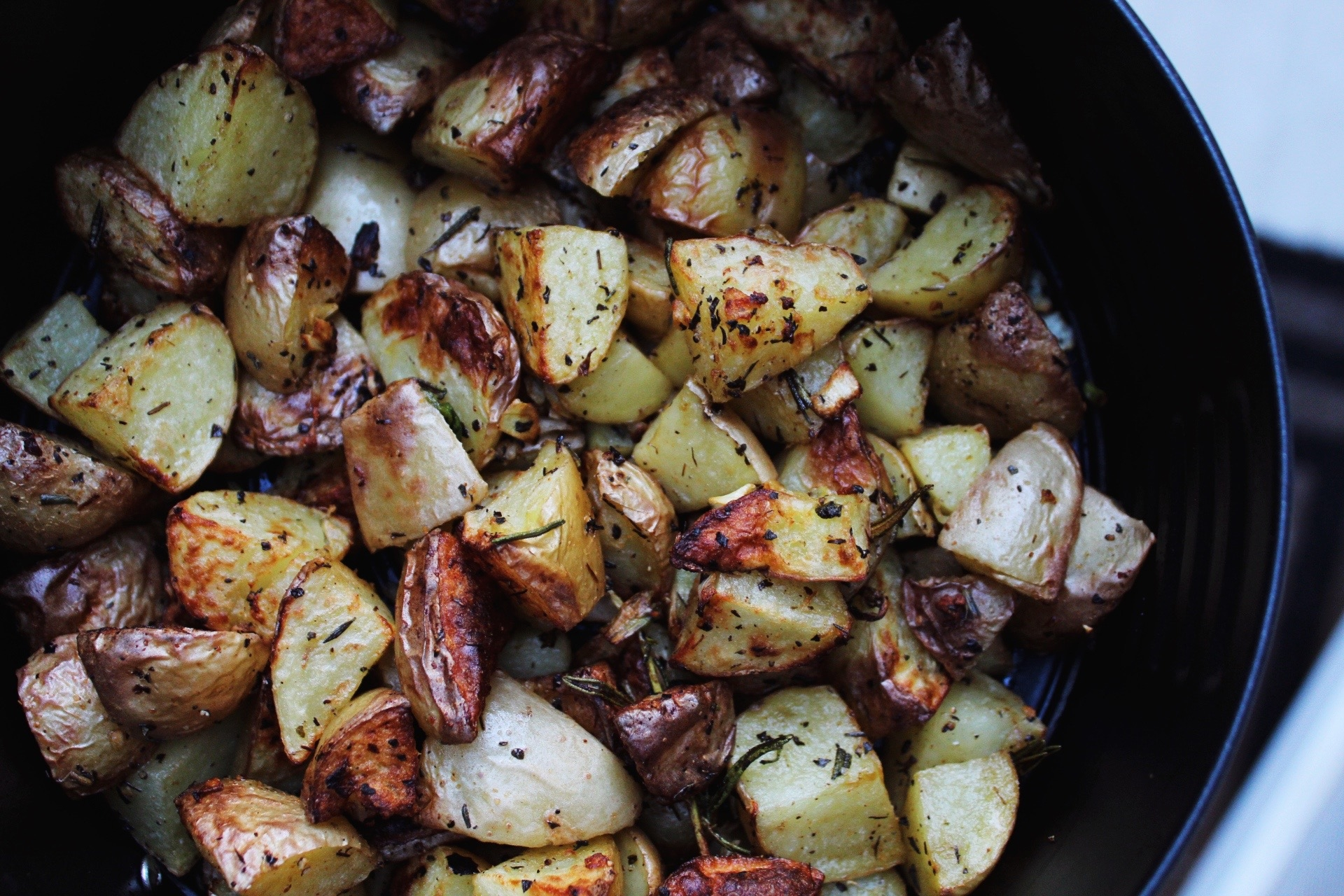 Air Fryer Fried Potatoes and Onions