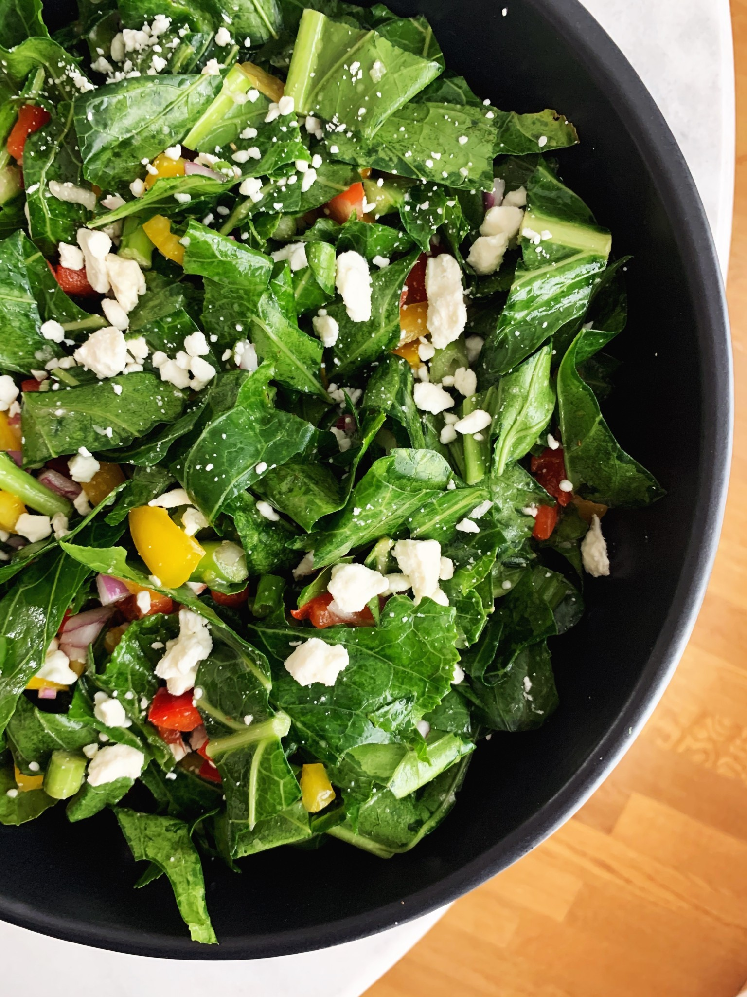 Juneteenth Collard Green Salad
